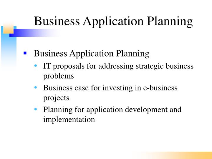 Business Application Planning