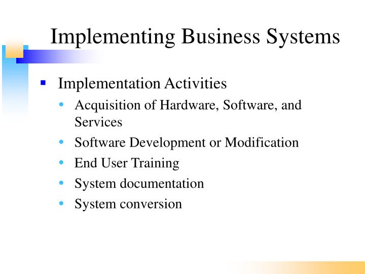 Implementing Business Systems