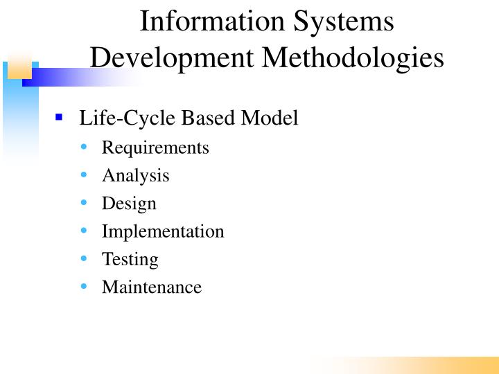 Information Systems Development Methodologies