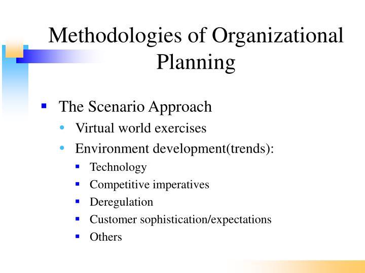 Methodologies of Organizational Planning