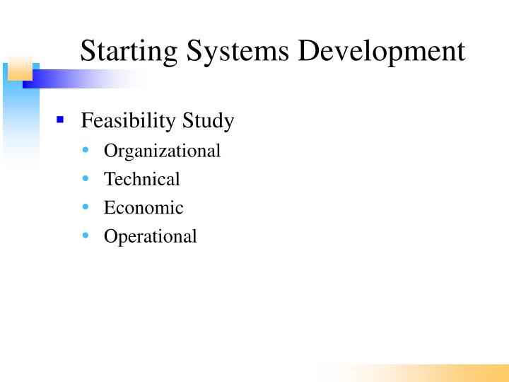 Starting Systems Development