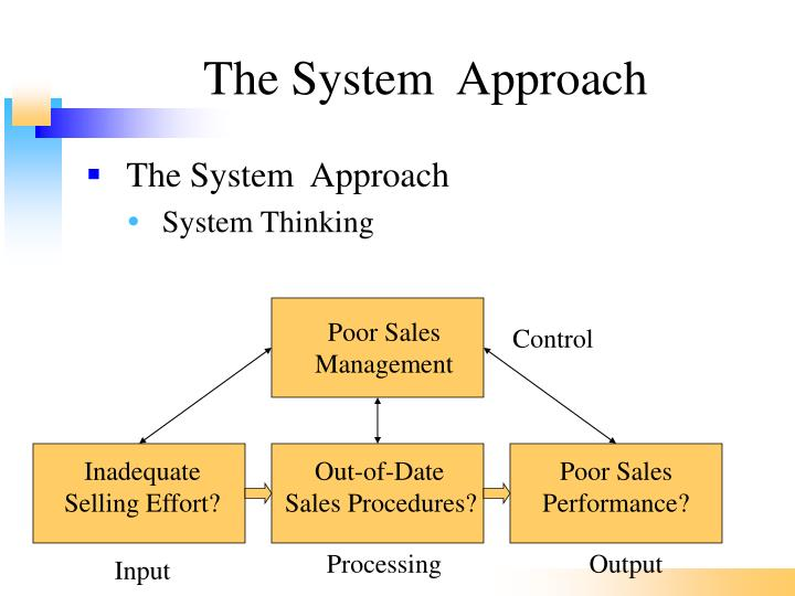The System  Approach