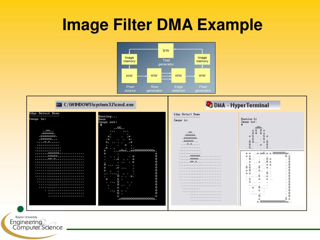 Image Filter DMA Example