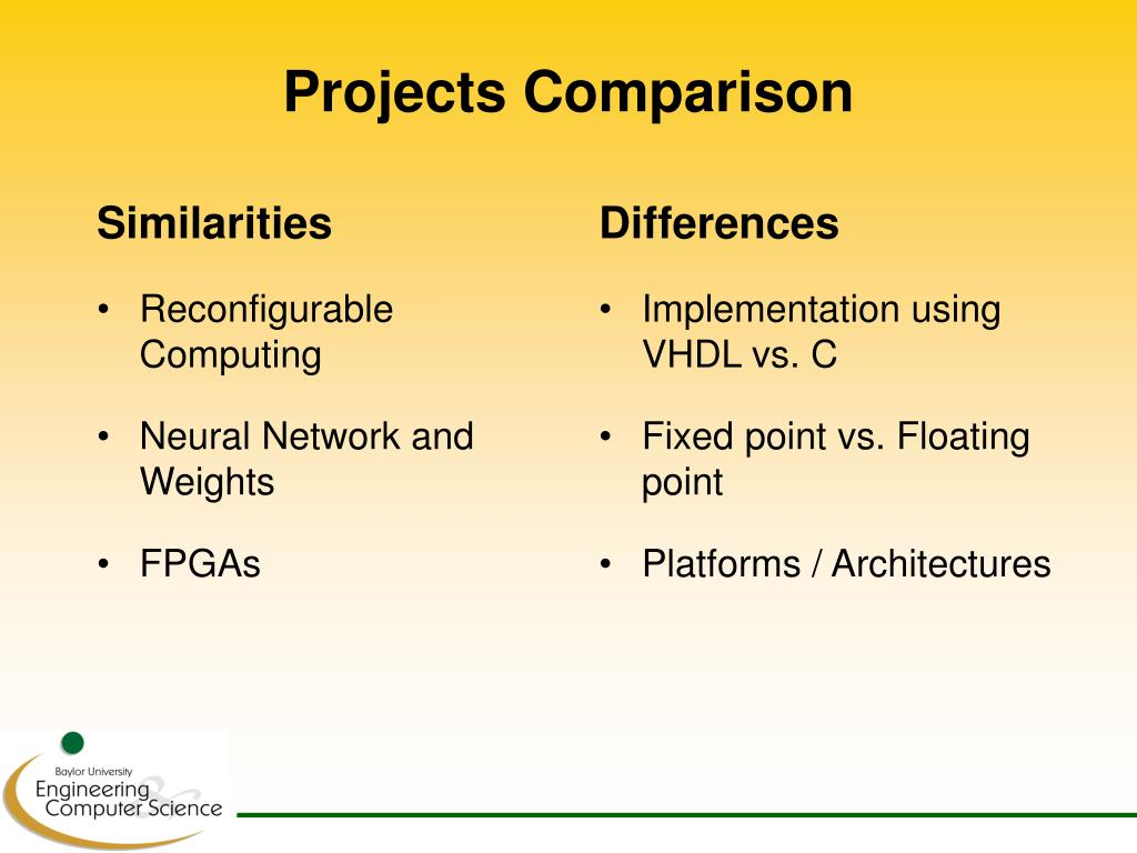 Projects Comparison