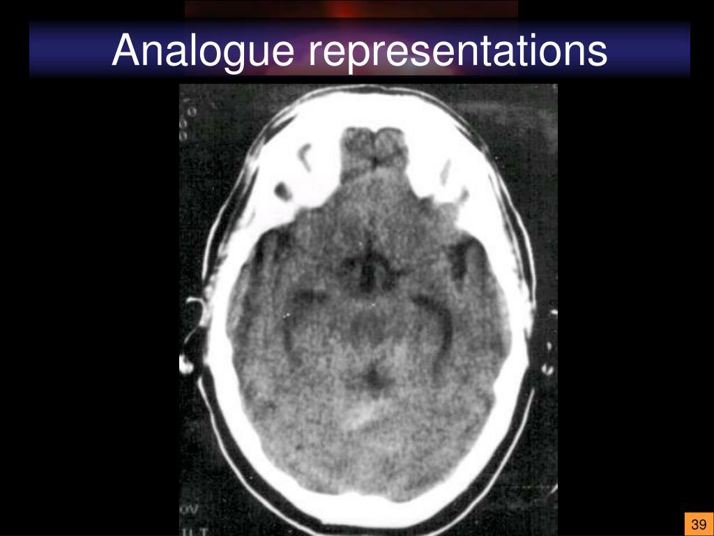 Analogue representations