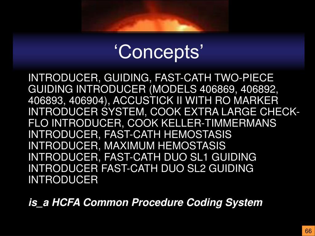 'Concepts'