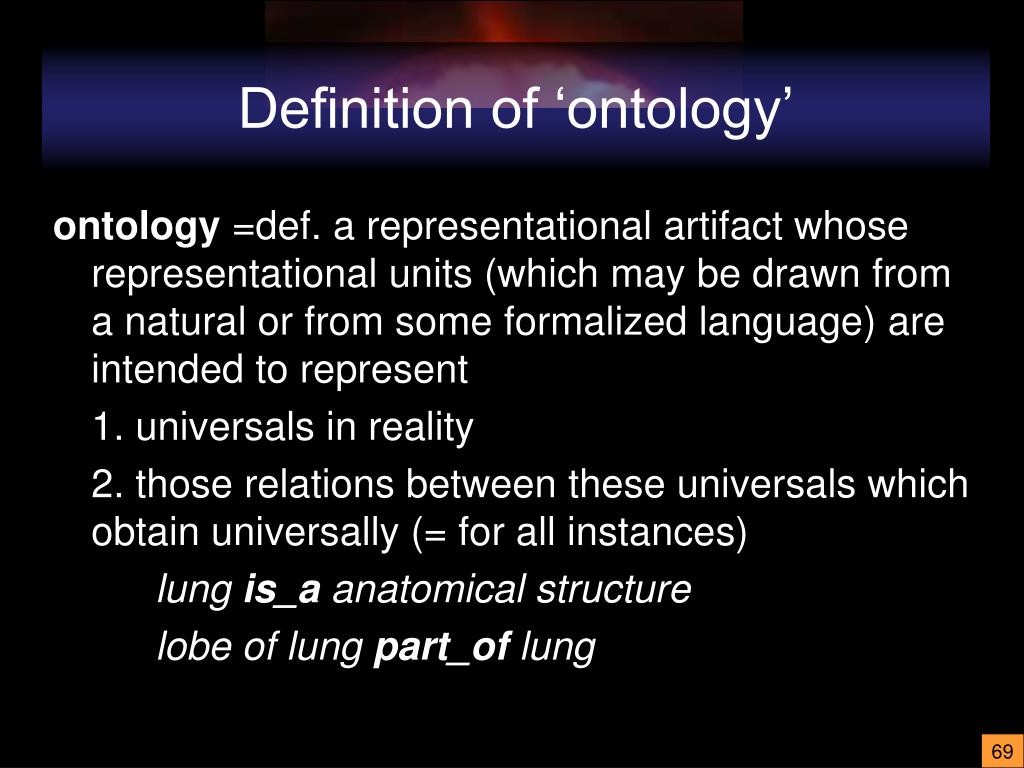 Definition of 'ontology'