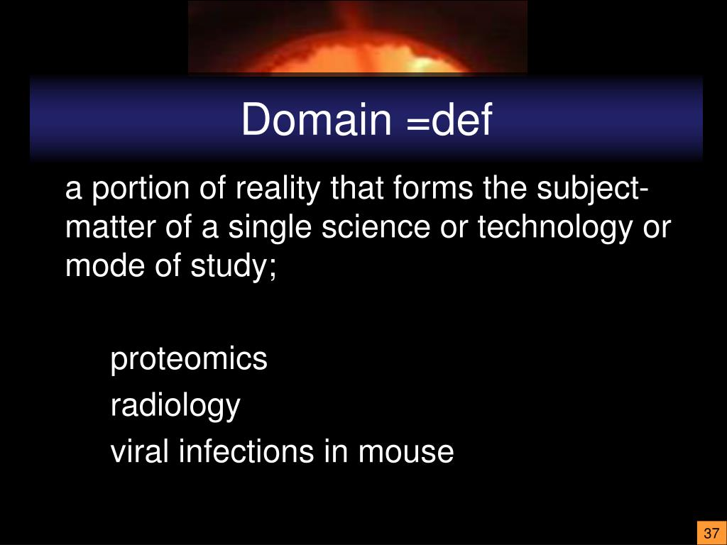 Domain =def