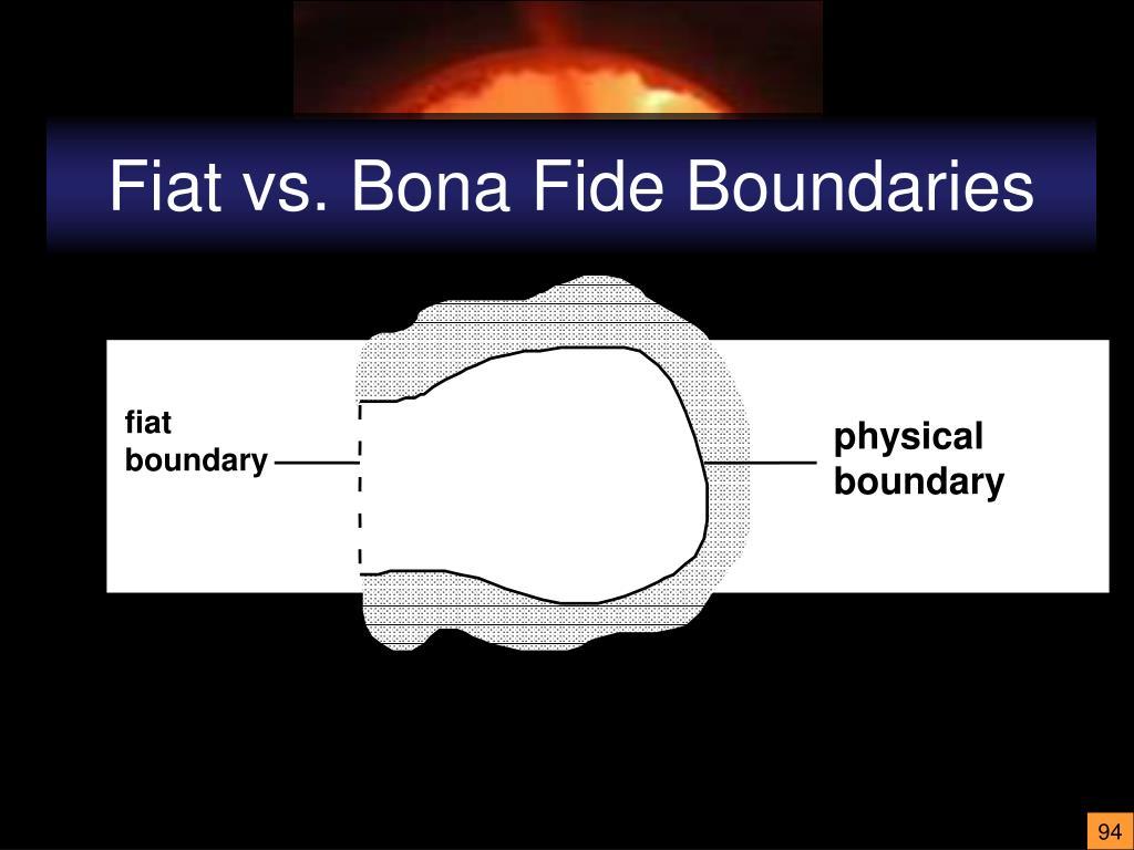 Fiat vs. Bona Fide Boundaries