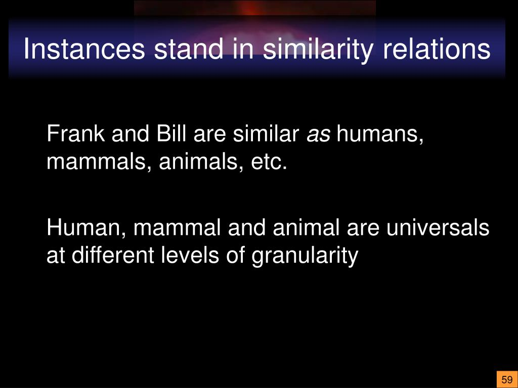 Instances stand in similarity relations