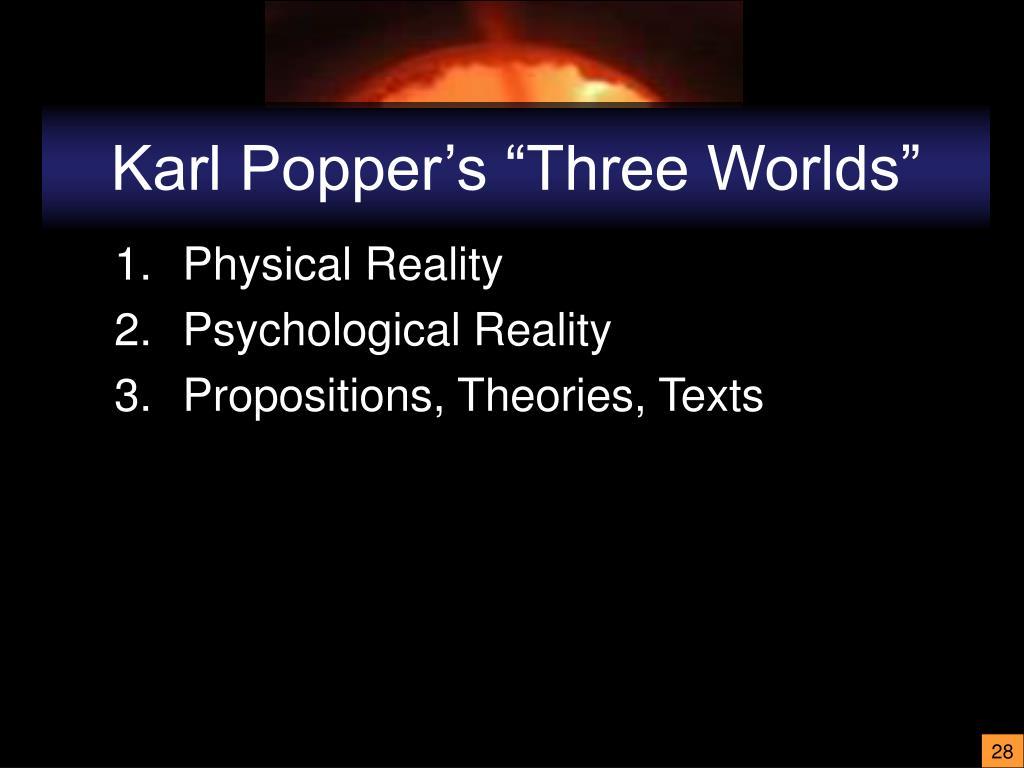 "Karl Popper's ""Three Worlds"""