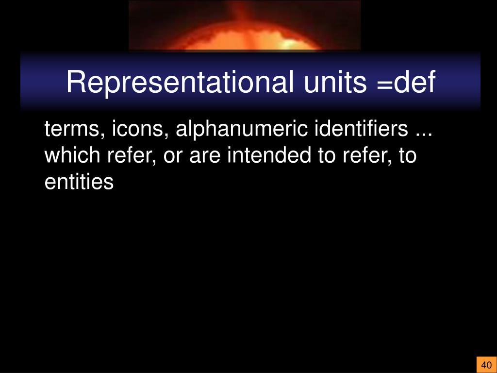 Representational units =def