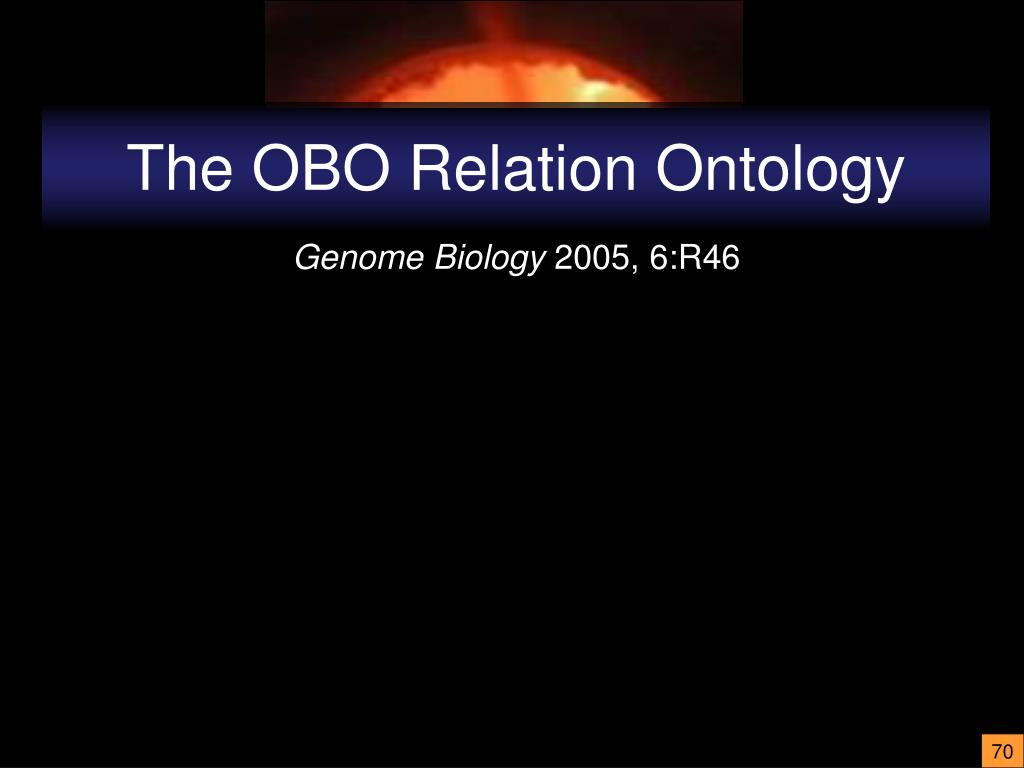 The OBO Relation Ontology