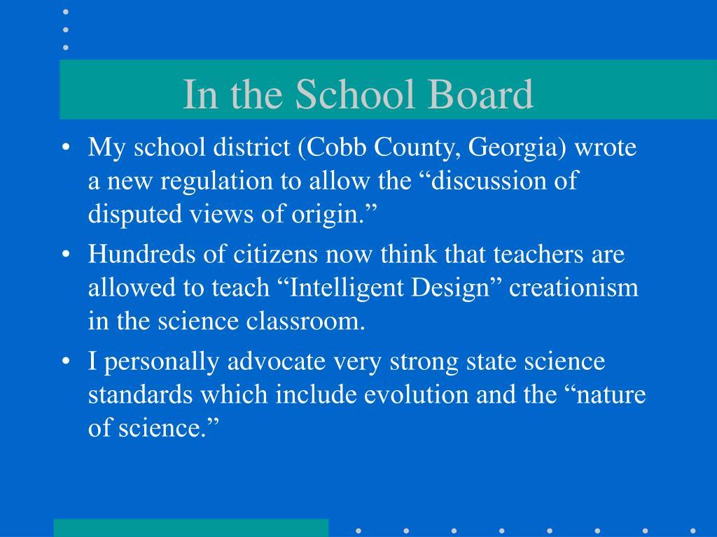 In the School Board