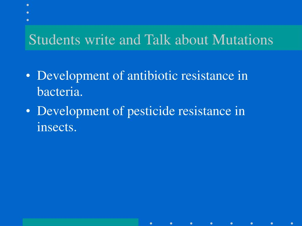 Students write and Talk about Mutations