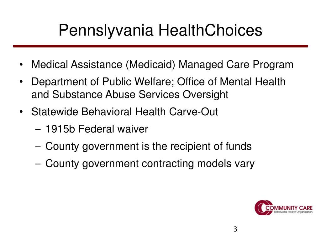Pennslyvania HealthChoices