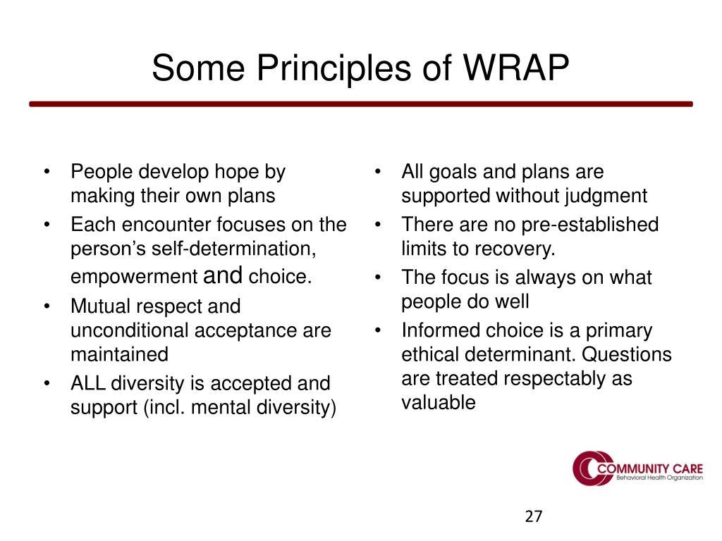 Some Principles of WRAP