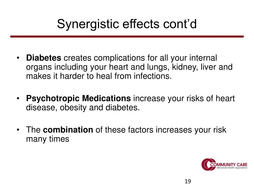 Synergistic effects cont'd