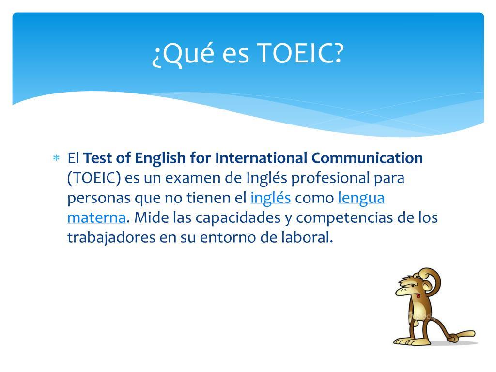 ¿Qué es TOEIC?