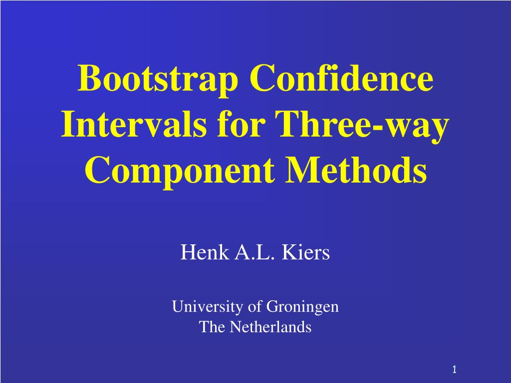Bootstrap Confidence Intervals for Three-way Component Methods
