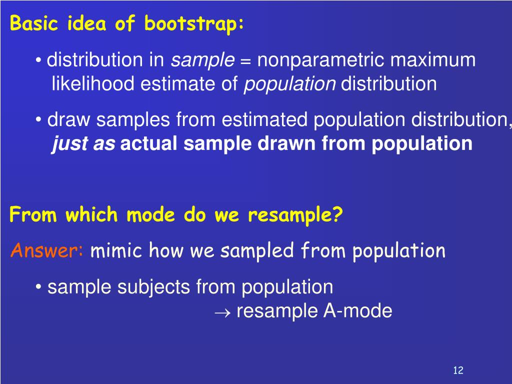 Basic idea of bootstrap: