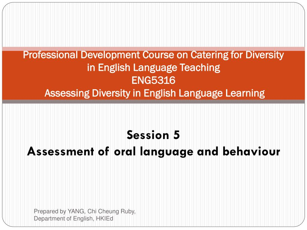 Professional Development Course on Catering for Diversity in English Language Teaching