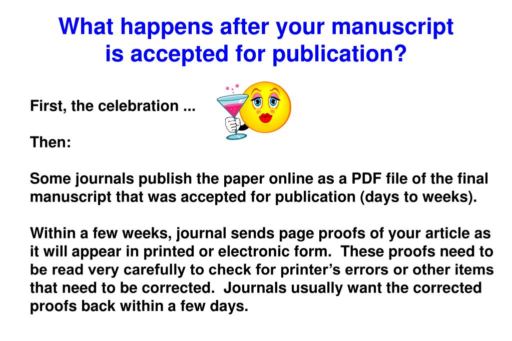 What happens after your manuscript