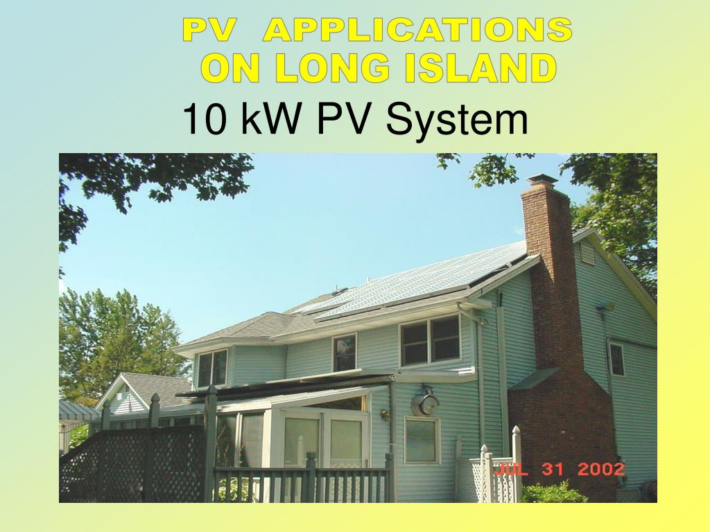 PV  APPLICATIONS