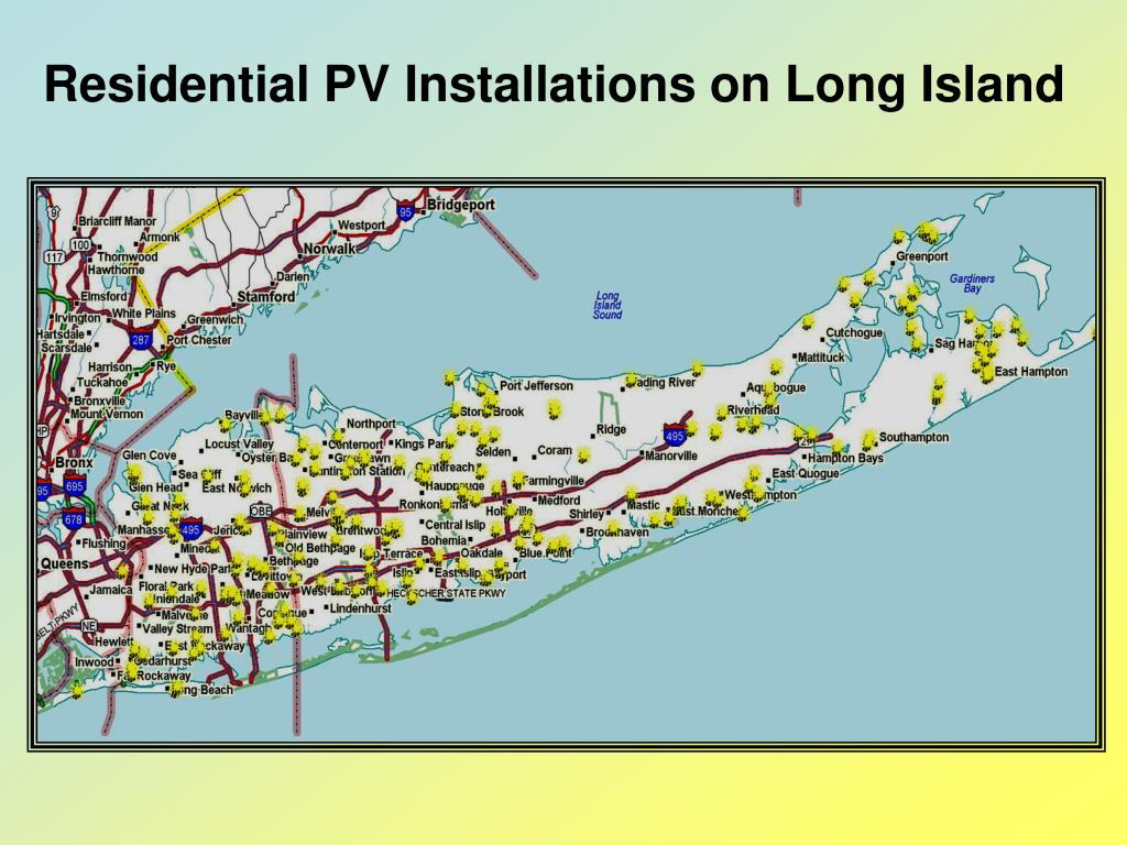 Residential PV Installations on Long Island