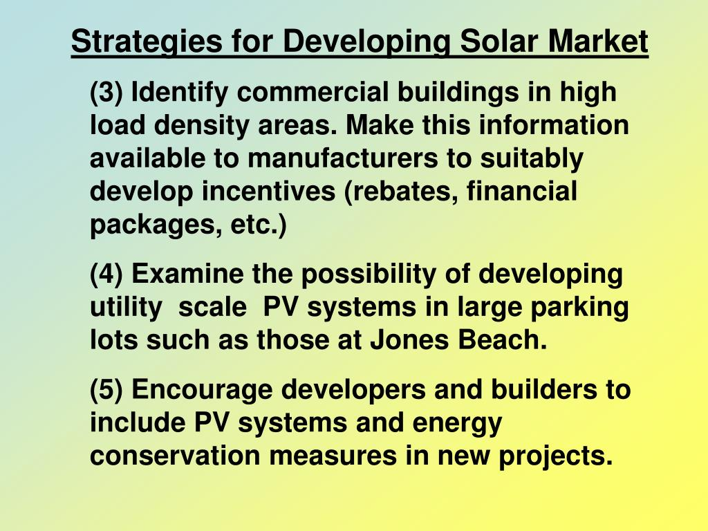 Strategies for Developing Solar Market