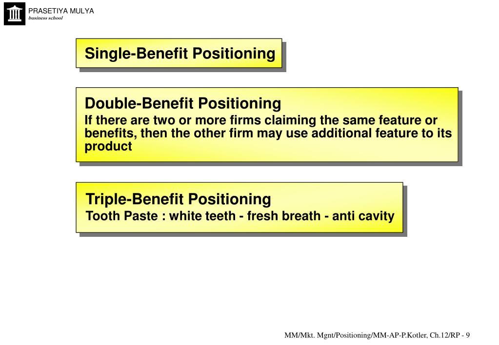 Single-Benefit Positioning