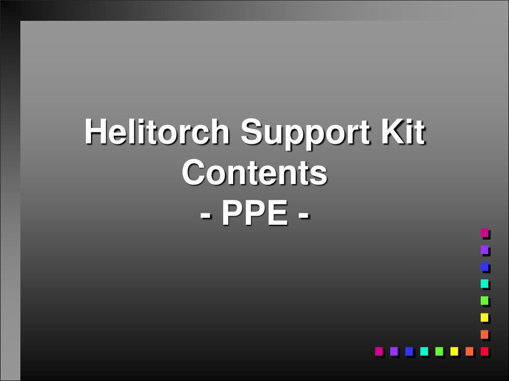 Helitorch Support Kit Contents