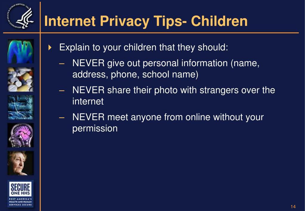 Internet Privacy Tips- Children