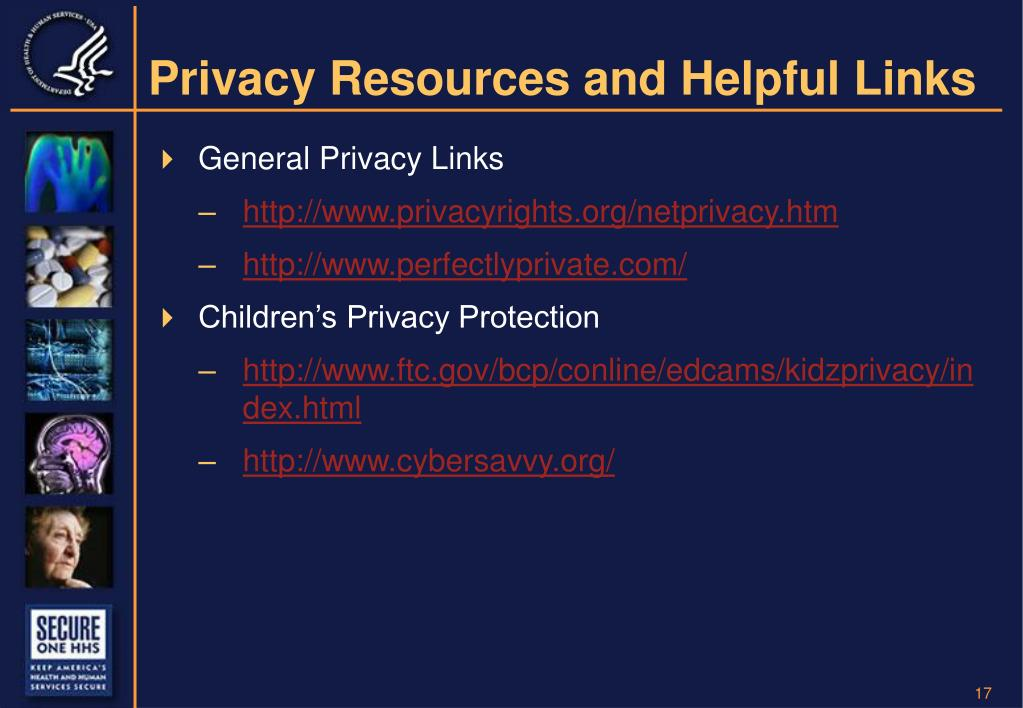 Privacy Resources and Helpful Links