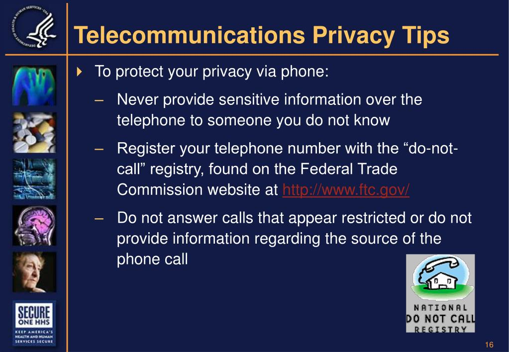Telecommunications Privacy Tips