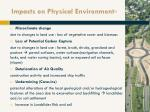 impacts on physical environment 5