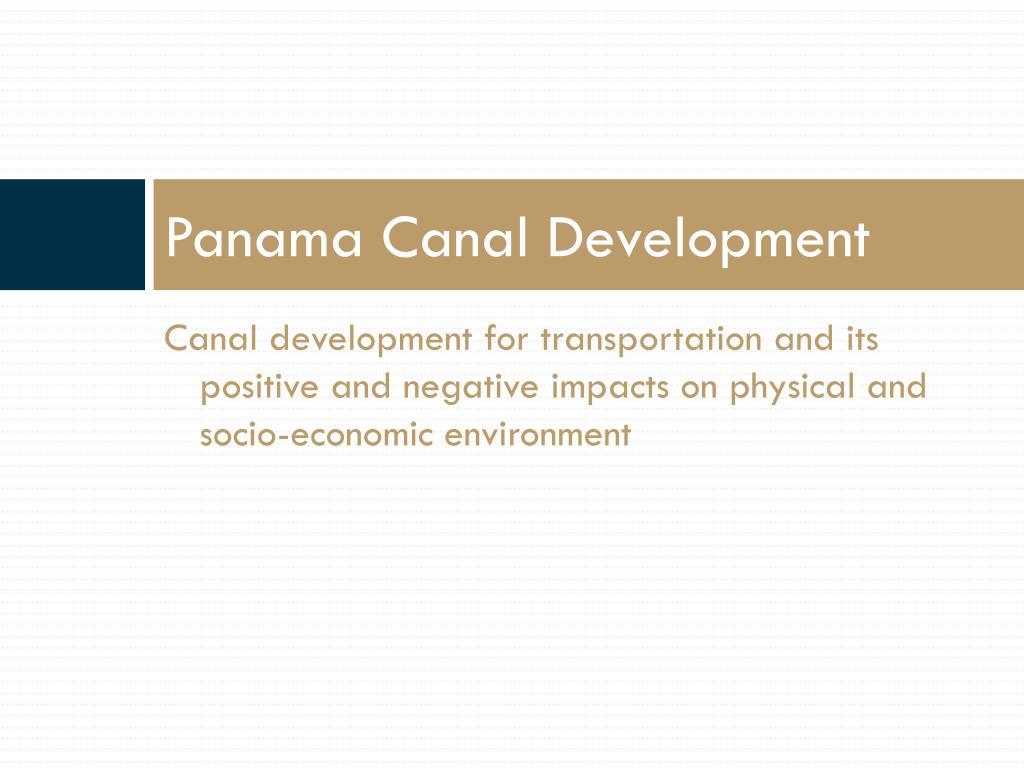 Panama Canal Development