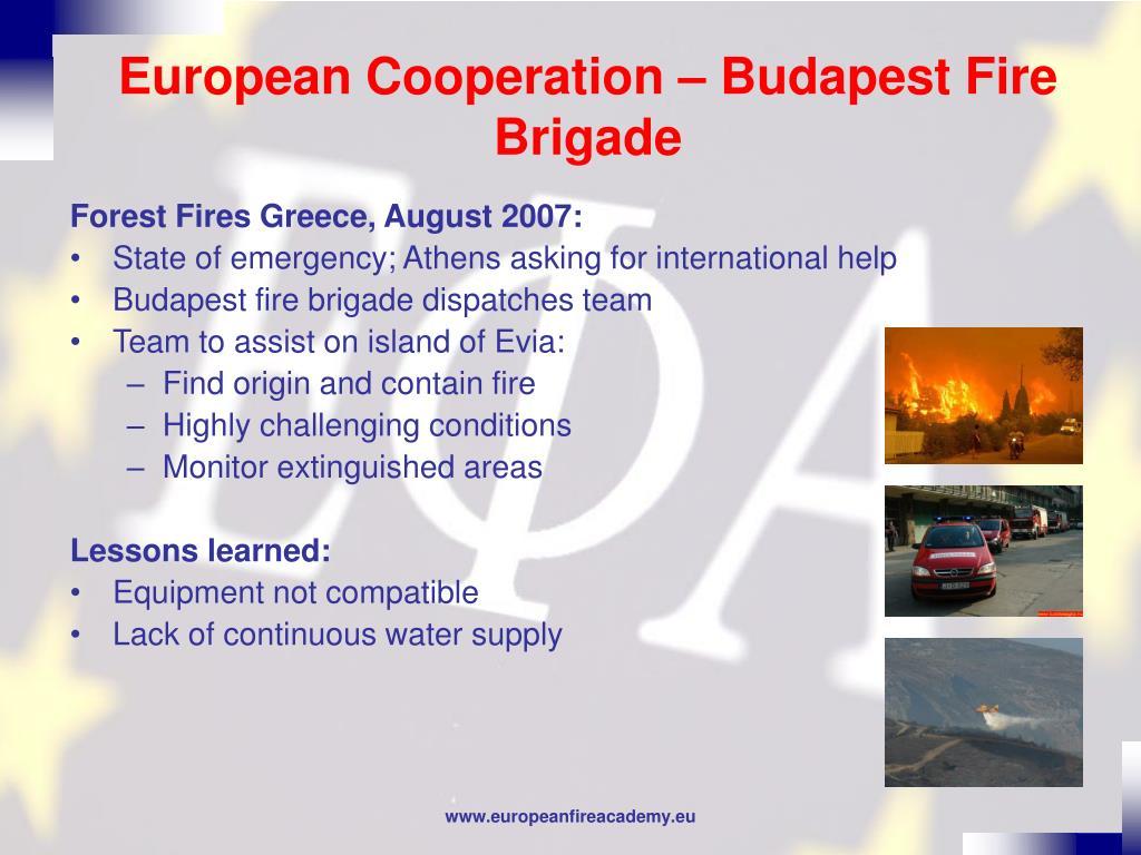 European Cooperation – Budapest Fire Brigade