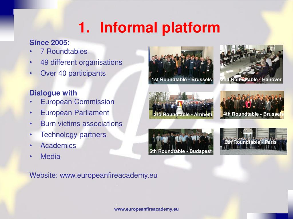 Informal platform