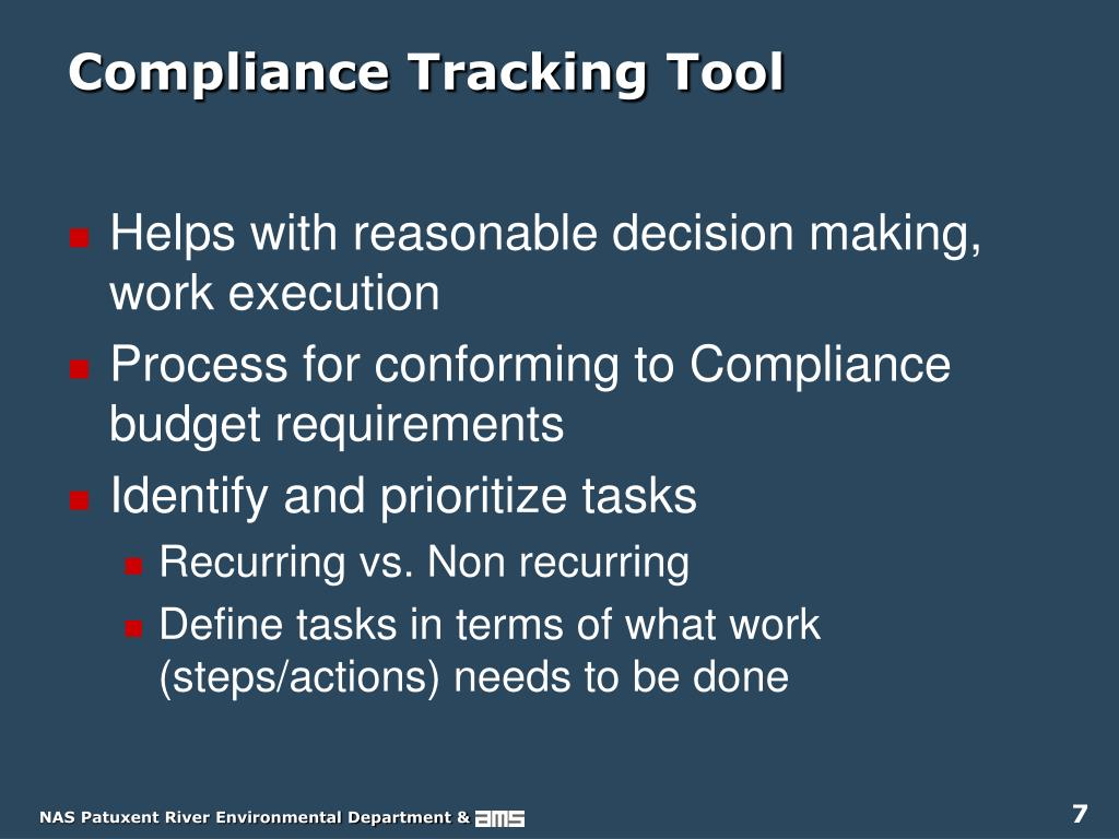 Compliance Tracking Tool
