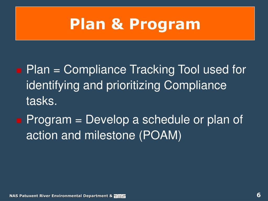 Plan & Program