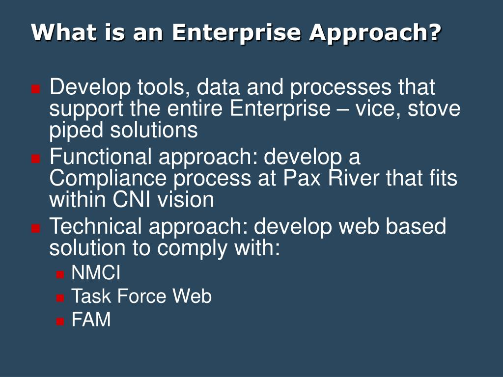 What is an Enterprise Approach?