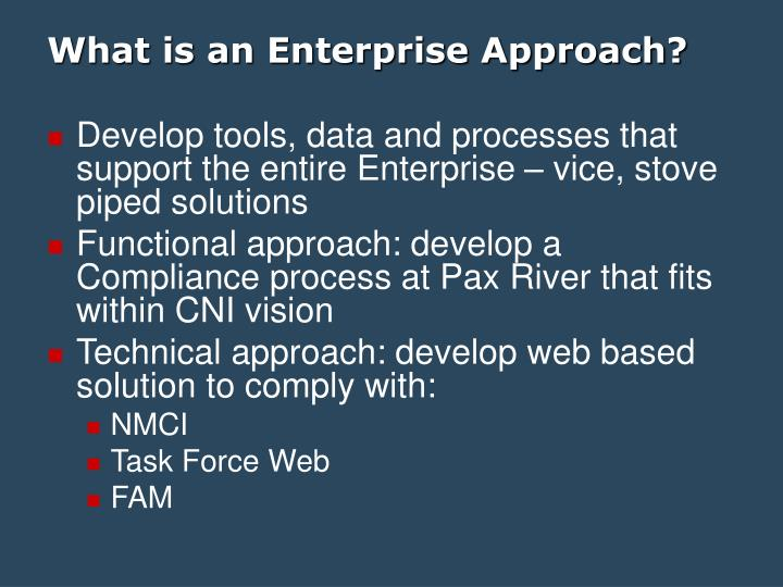 What is an enterprise approach l.jpg