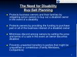 the need for disability buy sell planning