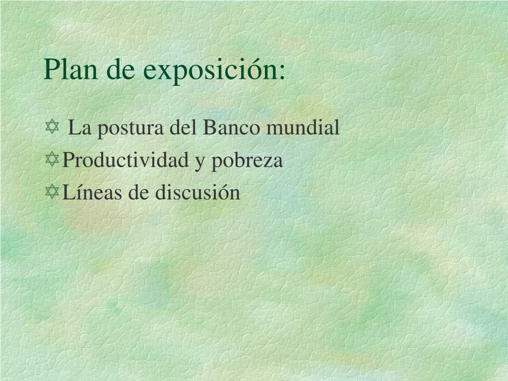 Plan de exposición: