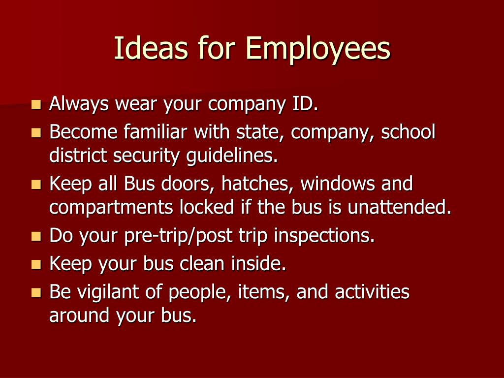 Ideas for Employees