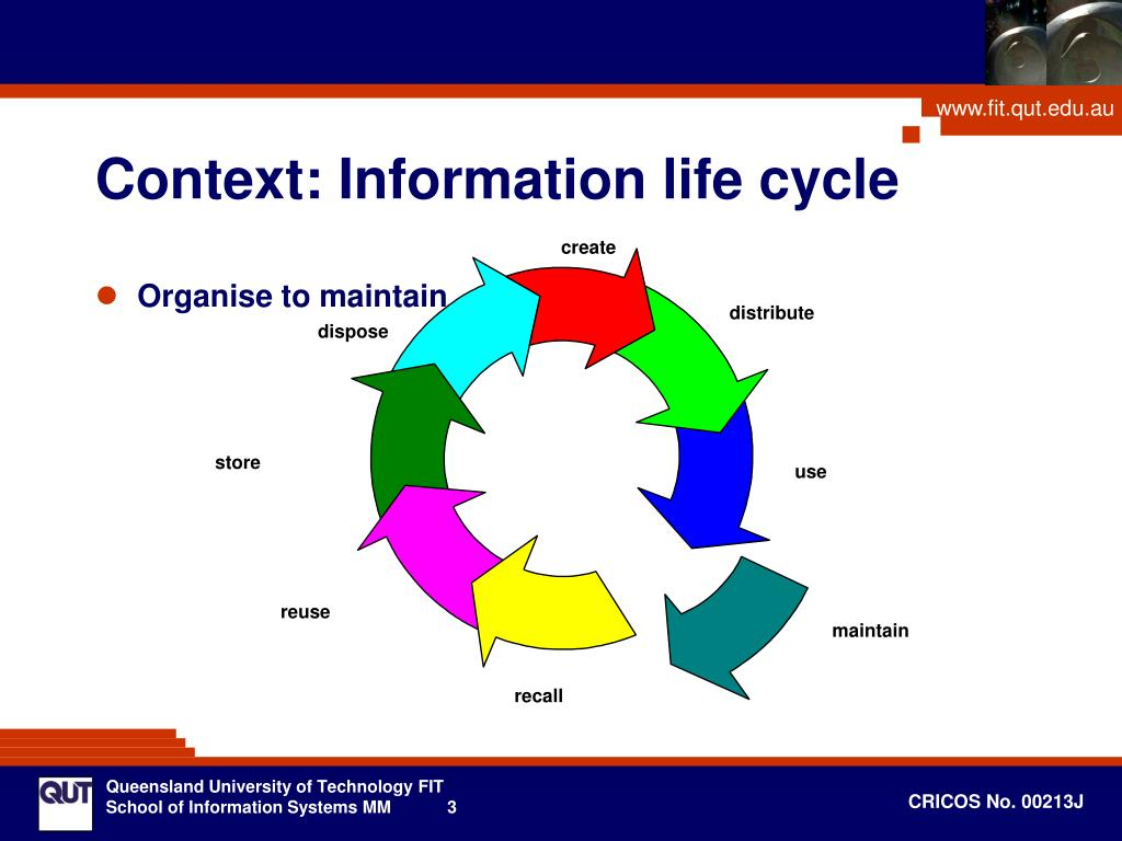 Context: Information life cycle