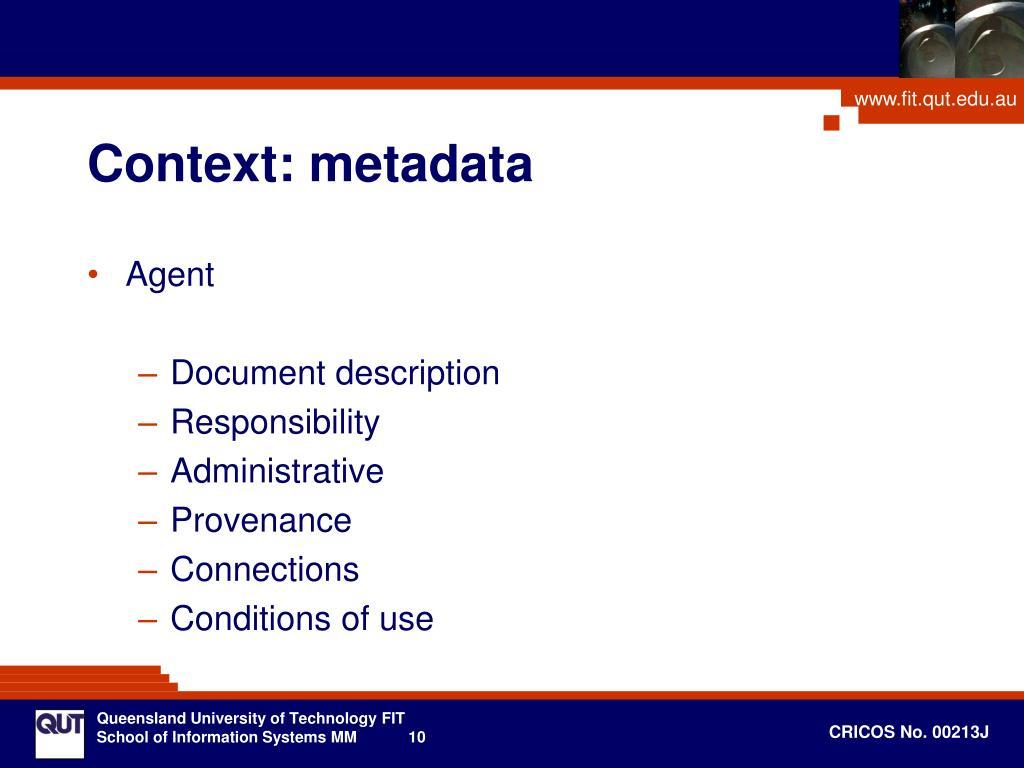 Context: metadata