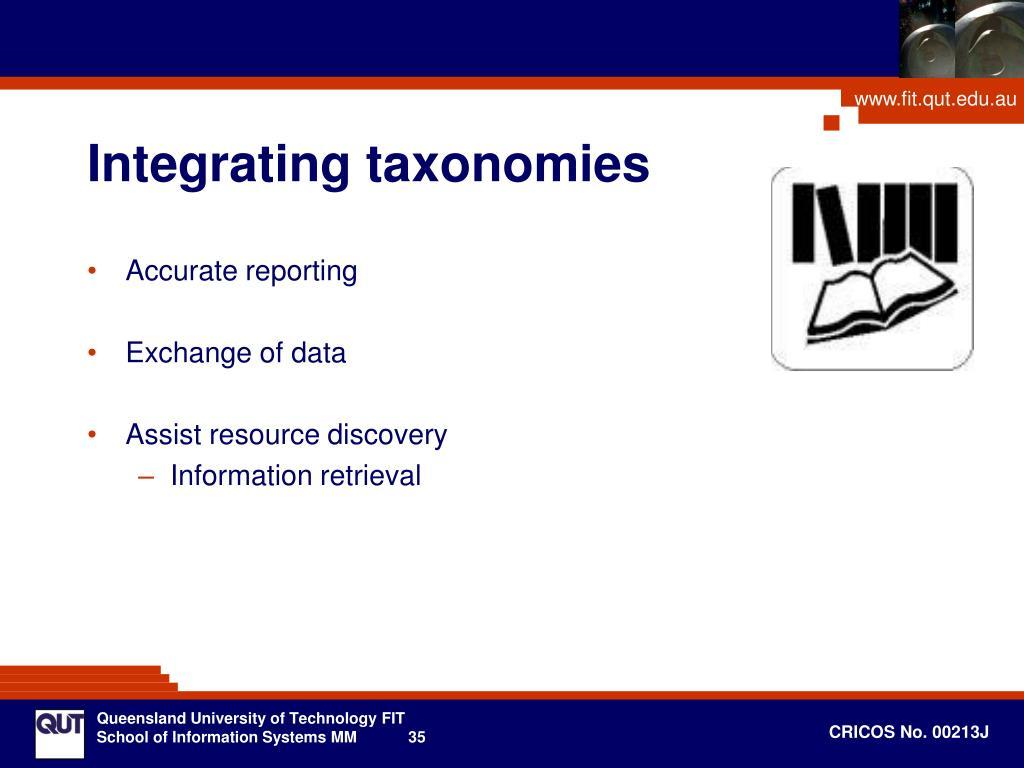 Integrating taxonomies