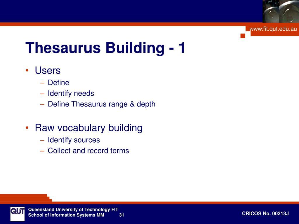 Thesaurus Building - 1